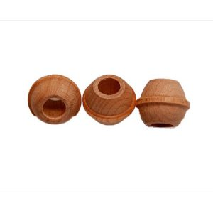 60 NATURAL Very SM Bead 1/2D (H1/4) (Birch)   Zoo-Max