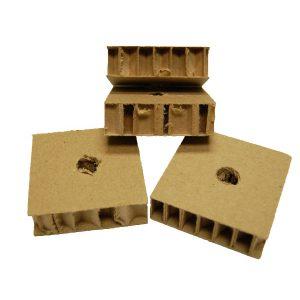"Honey Comb cardboard .75""H X 2.5""W X 2.5""LO (H1/2)   Zoo-Max"