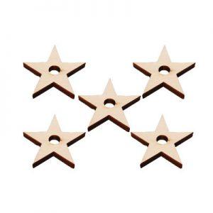 "Natural Pine Stars .25""H X 2""D (H5/16"")   Zoo-Max"