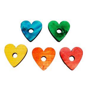 """Pine Heart .25""""H X 1.75""""D (H3/8"""")   Zoo-Max"""