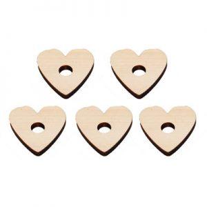 "Natural Pine Heart .25""H X 1.75""D (H3/8"")   Zoo-Max"
