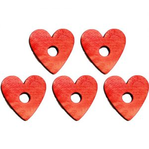 """Red Pine Heart .25""""H X 1.75""""D (H3/8"""")   Zoo-Max"""