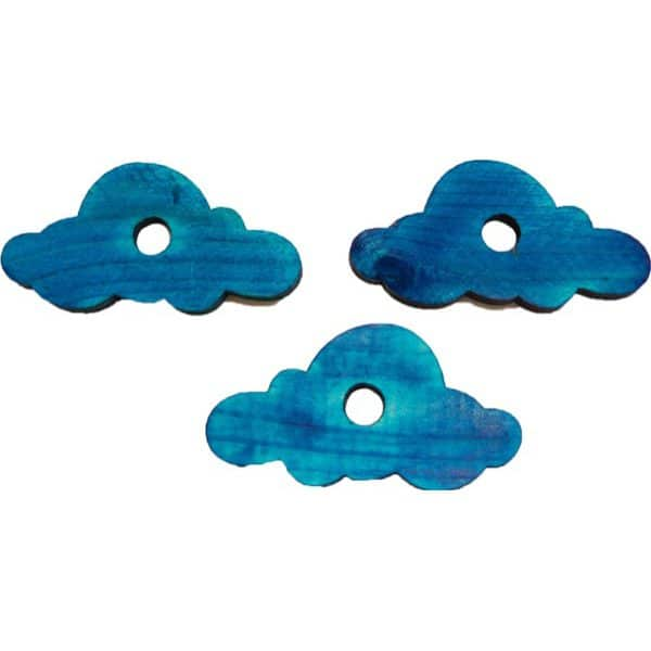 "*Blue* Pine Cloud  .25""H X 1.5""W X 3""LO  (H3/8"") 