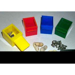 "4 CUBES (YELLOW-RED-BLUE-GREEN) (1.75"") 