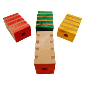 "4 GROOVY BLOCKS 2"" X 3'' 