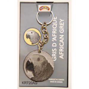 "KEY RING (1.75""): AFRICAN GREY 