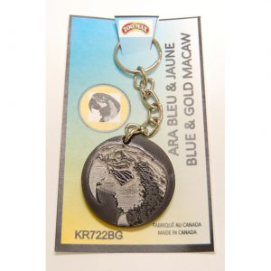 "KEY RING (1.75""): BLUE & GOLD MACAW 