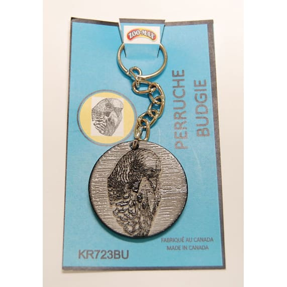 "KEY RING (1.75""): BUDGIE   Zoo-Max"