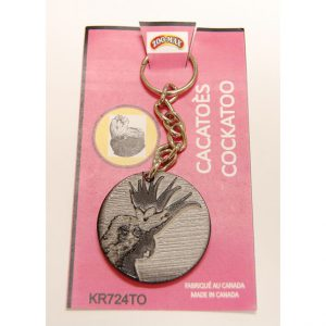 "KEY RING (1.75""): COCKATOO 