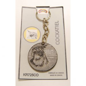"KEY RING (1.75""): COCKATIEL 