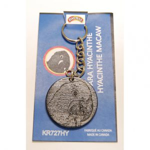 "KEY RING (1.75""): HACINTH MACAW 