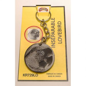 "KEY RING (1.75""): LOVEBIRD 