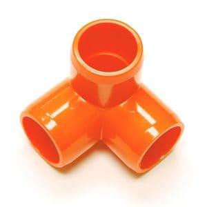 "Fitting  7/8""D (Int.1/2"") Orange:  3 Way | Zoo-Max"