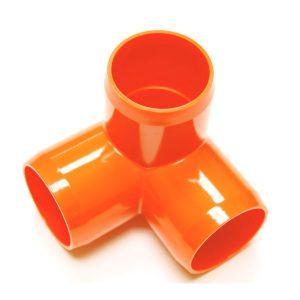 "Fitting 1 5/8""D (Int. 1 1/4"")  Orange:  3 Way | Zoo-Max"